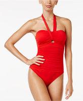 Lauren Ralph Lauren Beach Cutout Tummy-Control One-Piece Swimsuit