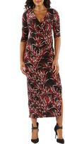 24/7 Comfort Apparel Bamboo Print Maxi Dress