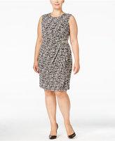 Calvin Klein Plus Size Sleeveless Faux-Wrap Dress