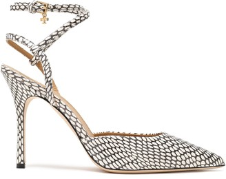 Tory Burch Snake-effect Leather Pumps