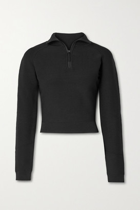 Altuzarra Rio Cropped Ribbed Stretch-knit Sweater - Black