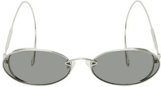 McQ Silver Chain Cable Tip Sunglasses
