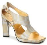 Roger Vivier Final Sale Metallic Geometric Sandal