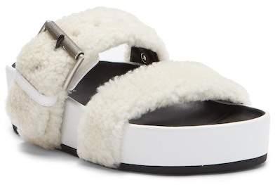 Rag & Bone Evin Genuine Shearling Slide Sandal
