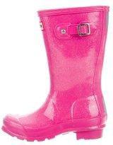 Hunter Girls' Metallic Rain Boots