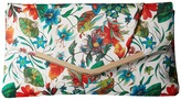 Jessica McClintock Arielle Tropical Floral Envelope Clutch Clutch Handbags