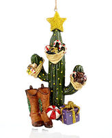 Kurt Adler Cactus and Boots Christmas Ornament