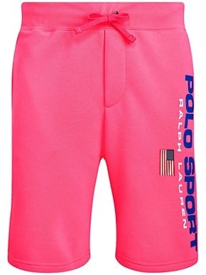 Polo Ralph Lauren Neon Fleece Drawstring Shorts
