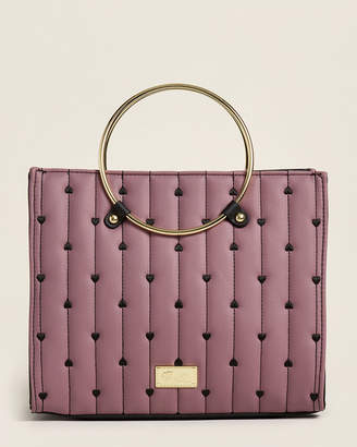 Betsey Johnson Luv Betsey By Mauve Jules Quilted Satchel