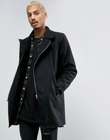 Criminal Damage Wool Blend Nuckie Over Coat