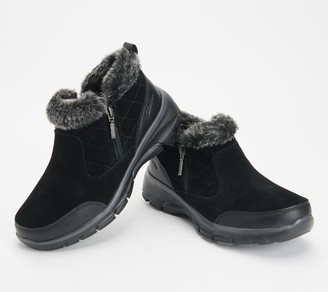 Skechers Quilted Faux Fur Trim Booties - Easy Going