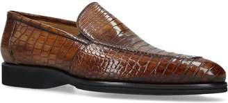 Brotini Crocodile Skin Loafers