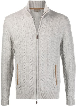 N.Peal The Richmond zipped cardigan