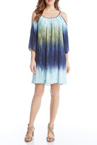 Karen Kane Cold Shoulder Ombre Dress