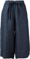 Masscob cropped palazzo pants - women - Linen/Flax - 38
