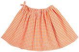 Marni Junior Square Print Cotton Poplin Skirt