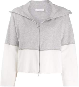 Fabiana Filippi two-tone zip-up cardigan