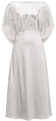 Paco Rabanne Bow-back Chainmail Midi Dress - Womens - Silver
