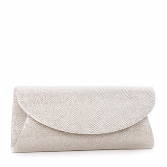 Paradox London Pink Womens DOMINIQUE Clutch Gold (Champagne)