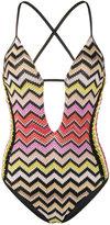 Missoni Mare cut out swimsuit - women - Nylon/Polyester/Spandex/Elastane/Rayon - 38