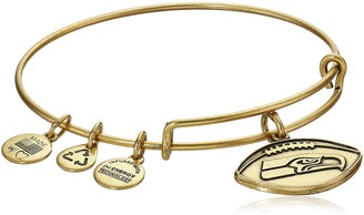 Alex and Ani Seattle Seahawks Football Expandable Rafaelian Gold Bangle Bracelet