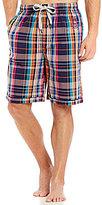 Psycho Bunny Woven Plaid Pajama Shorts