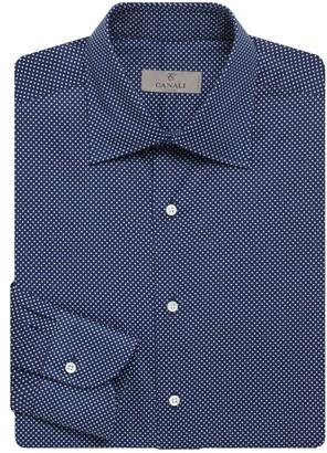 Canali Microdot Cotton Long Sleeve Shirt