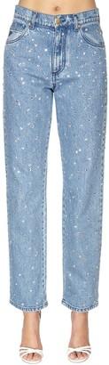 Philosophy di Lorenzo Serafini Embellished Cotton Denim Jeans