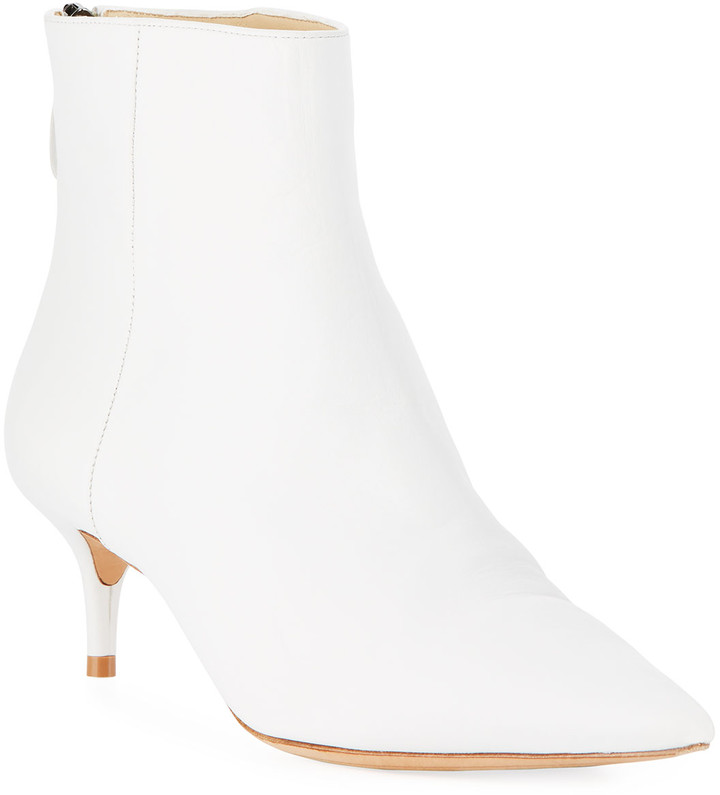 Alexandre Birman Kitti Point-Toe Leather Booties