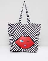 Lulu Guinness Emoji Foldaway Shopper Bag