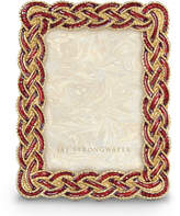 """Jay Strongwater Aileen Braided 3.5"""" x 5"""" Frame"""