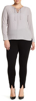 Amy Byer Banded Waist Ponte Legging (Plus Size)