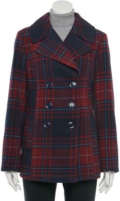 Larry Levine Women's Double-Breasted Coat