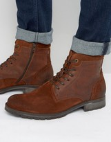 Jack and Jones Hanibal Lace Up Leather Boots