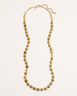 Chico's Long Textured Bronze-Colored Necklace