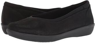 Clarks Ayla Low (Black Synthetic Nubuck) Women's Shoes