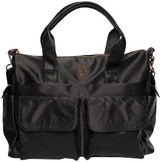 Mocha Lifestyle Baby Bag - Black/Rose Gold Two