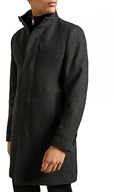 Ted Baker Rockies Wool Blend Funnel Neck Coat