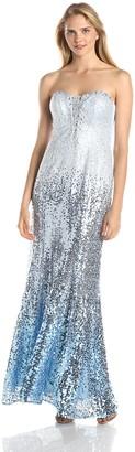 Ignite Women's Strapless Sequin Bodice Dress
