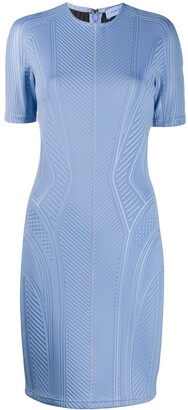 Thierry Mugler Ribbed Fitted Dress