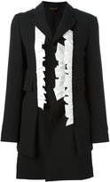 Comme des Garcons ruffled blazer - women - Cotton/Cupro/Wool - S