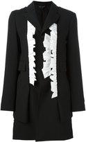 Comme des Garcons ruffled blazer - women - Wool/Cotton/Cupro - S