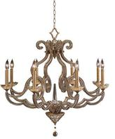 John-Richard Collection Beaded Elegance 8-Light Scroll Chandelier