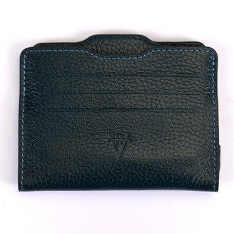 Atelier Hiva Double Card Holder Petrol Blue & Petrol Blue