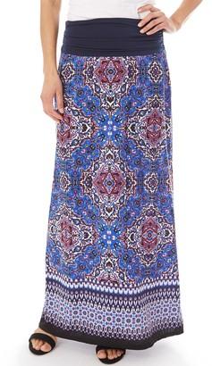Apt. 9 Women's Print Column Maxi Skirt