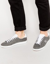 Fred Perry Hopman Wool Trainers - Grey