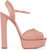 Casadei open toe platform sandals - women - Leather - 38