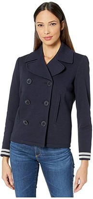 Lauren Ralph Lauren French Terry Jacket (Lauren Navy) Women's Clothing