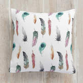 Minted Feather Dance Self-Launch Square Pillows