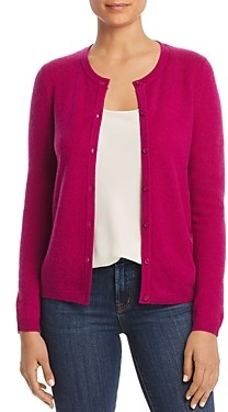 C by Bloomingdale's Crewneck Cashmere Cardigan 100% Exclusive